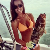 Beautiful Girls Showing Off Their Catch
