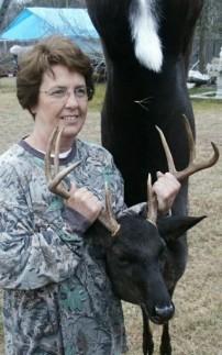 Black whitetail deer