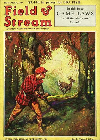 old field and stream cover september 1929 hunting