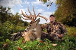 205 pound, 187-inch Wisconsin buck.