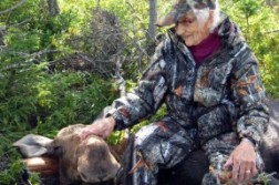 95 year old woman bags moose in Nova Scotia