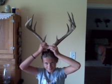 Daughter with antlers