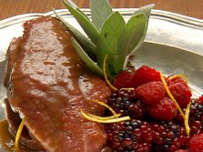 Duck Breast w/ Berry Sauce