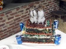 Maybe the strangest wedding cake ever.