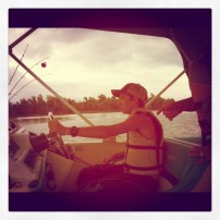 me drivin that boat in tennessee!
