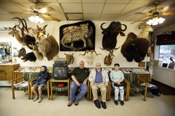Taxidermy and barber shops just go together.