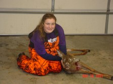 Kirsten's first deer