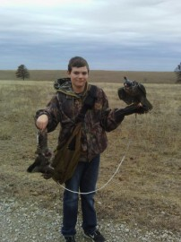 Duck hunting with falcons caught this one while it was sleeting!