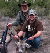 First Whitetail Buck with Larry Weishuhn