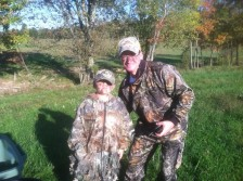 Hunting with my grandson 2011
