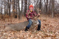 Kid Shoots Monster 27 Point Non Typical Buck