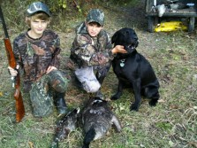 Me and my hunting buddy with his dog