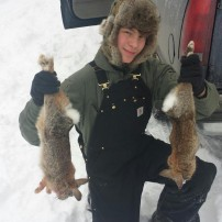 my first 2 rabbits on the season