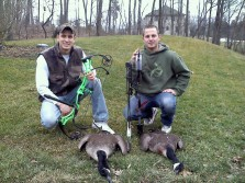 goose hunting with bows