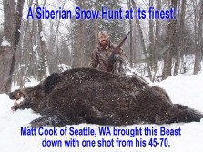 Russian Wild Boar Hunting Adventure in the USA