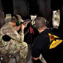 Rifle hunting in the TreeBlind